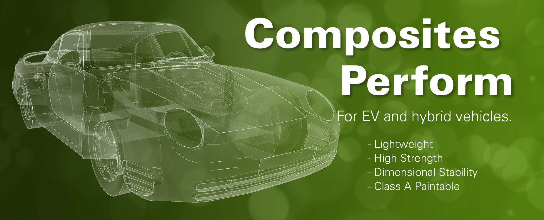 High Performance Thermoset Composites for Electric Vehicles