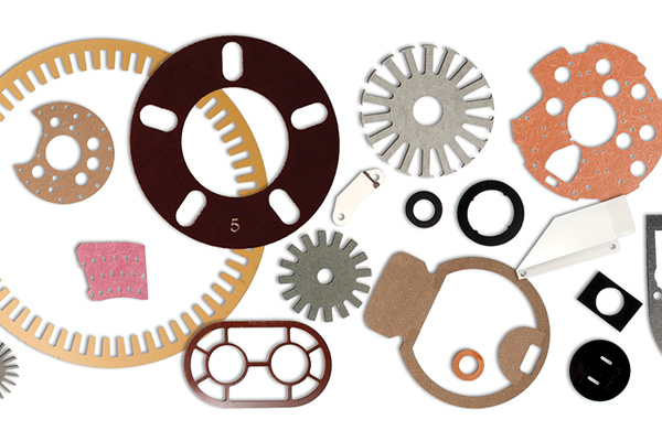 selection of stamped thermoset parts